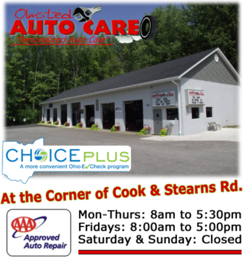Olmsted Falls Auto Repair at Stearns and Cook Road